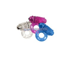 O WOW SILICONE COCK RING WATERPROOF ASSORTED COLORS